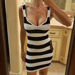 Bebe striped bodycon dress,  P/S